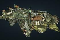Trojrozměrný obraz náměstí pomohl vyrobit dron.