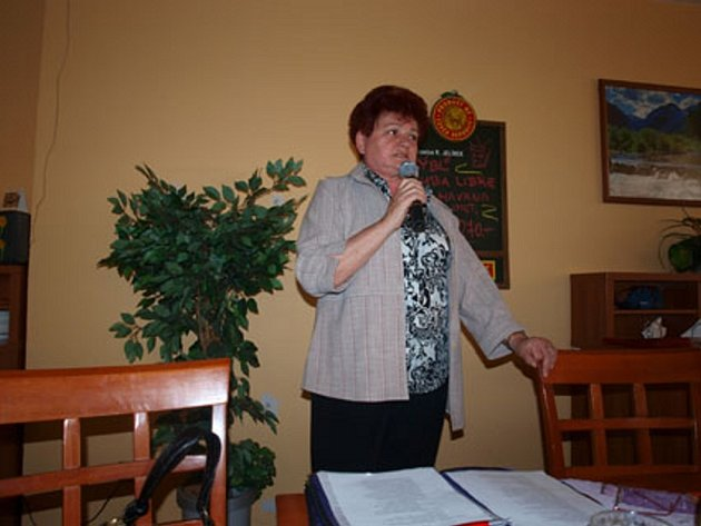 OLGA FRÜHAUFOVÁ, předsedkyně Sdružení zdravotně postižených.