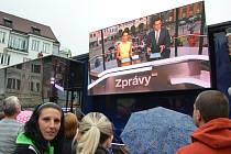 """Sedmou zastávkou roadshow """"Prima jede… za vámi"""" bylo v sobotu 13. června město Náchod."""