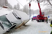 Havárie dodávky v Dolním Adršpachu.