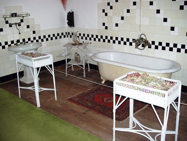 Letošní novinkou novoměstského zámku je otevření koupelny ze třicátých let 20. století.