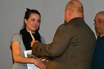 Pro ocenění si došla rovněž tradiční sběratelka různých ocenění, úspěšná atletka novoměstského Sportovního klubu Pavla Rousková,