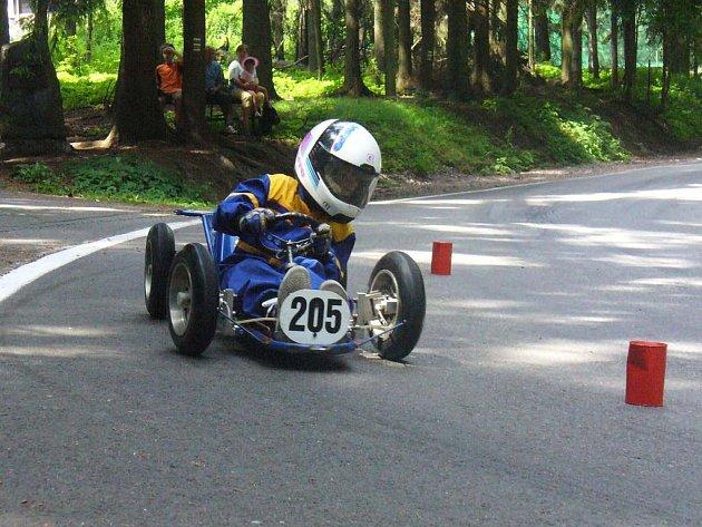 Pátou příčku obsadil v Ústí nad Orlicí náchodský minikárový závodník Vojtěch Burian.