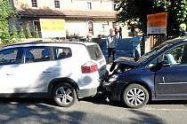 Nehoda v Nahořanech skončila zraněním.