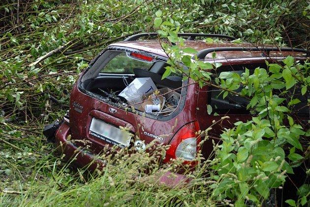 Nehoda ve Vyskově, neděle, 31. května.