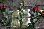 První sokolské Kameny zmizelých odhalené popravené rodině Burdychových na Končinách u Červeného Kostelce.