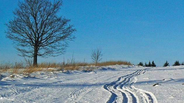 Takhle to 6. ledna vypadalo cestou na Bukovou horu.
