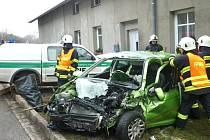 Dopravní nehoda v Náchodě - Malém Poříčí.
