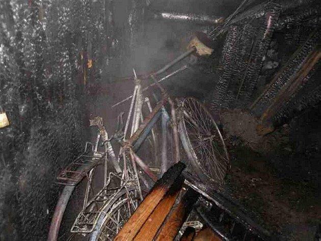 Požár v Benešově.