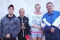 Letošnímu ročníku míčového sedmiboje smíšených dvojic vévodili Borůvková s Markem (vpravo), Belas s Ondráčkovou (vlevo) skončili druzí.