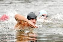 RYBNÍK PODBORNÝ přivítal přes sto třicet odvážných plavců, kteří závodili ve vodě teplé pouze 1,8 °C.