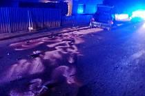 Havárie osobního automobilu v Říkově.