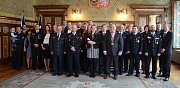 V obřadní síni radnice ocenili policisty, hasiče i záchranáře