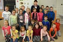 První třída ze Základní školy v Meziměstí s paní učitelkou Mgr. Ivou Ottmárovou.