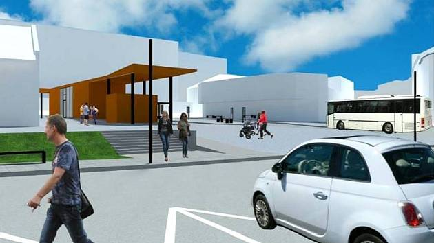 Studie nového autobusového terminálu Rychta v Novém Městě nad Metují.