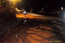 Porucha vodovodního potrubí v katastru Hejtmánkovic.