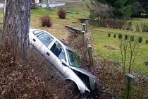 Nehoda ve Vernéřovicích u Broumova.