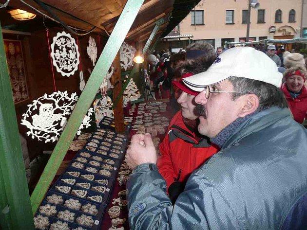 Vánoční trhy v Červeném Kostelci.