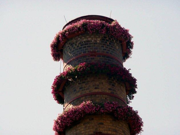 Ojedinělou atrakcí nejen pro zdejší občany, ale také pro návštěvníky města je čtyřicetimetrový tovární komín v areálu firmy Agro CS v Nyklíčkově ulici.