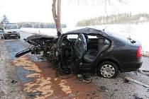 Řidič tehdy jel osobním vozem směrem od Broumova na Polici nad Metují, náhle vybočil do levé strany a narazil do stromu vlevo vedle vozovky. Následky přímého střetu do stromu řidič nepřežil.