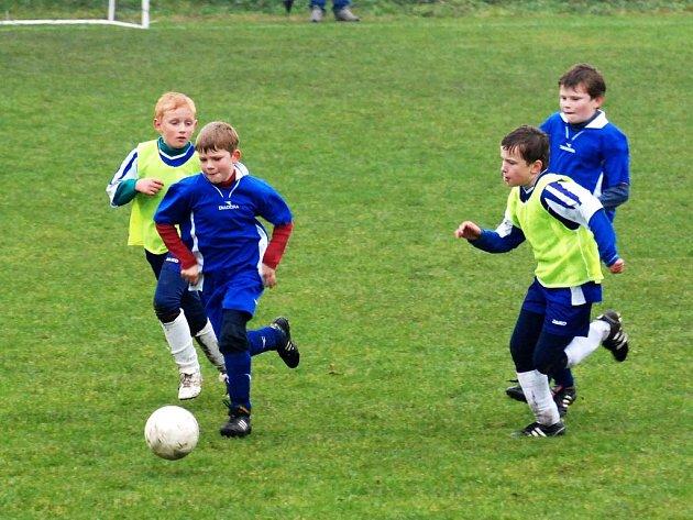 S pořádnou vervou se pouštějí do bojů o každý míč nejmenší fotbalové naděje.