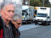 V úterý 26. října v Náchodě podruhé zastavila dopravu blokáda.