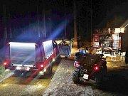 U vyhlídky Koruna v Broumovských stěnách zasahovali hasiči u požáru lesní hrabanky.