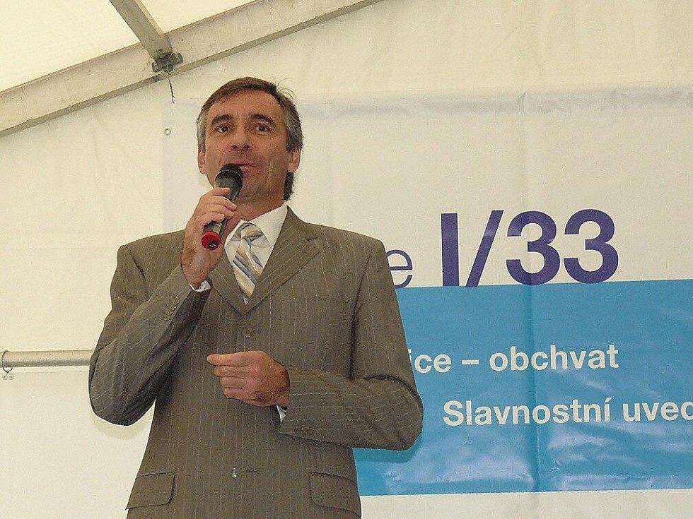 Slavnostní otevření obchvatu moderoval Jan Čenský.