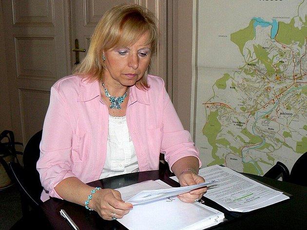 Místostarostka Náchoda Drahomíra Benešová.