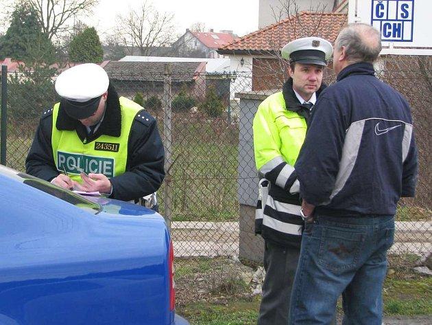 Fotografie z bezpečnostní akce na Náchodsku.