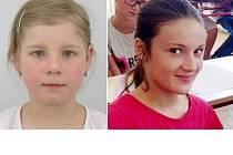 Pohřešované dívky Mariana Uhlířová a Natálie Samková