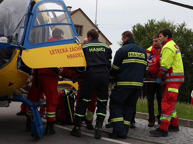 Zásah záchranné služby v Novém Městě nad Metují.