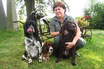 Psi na Šléglu plnili úkoly vodní práce.