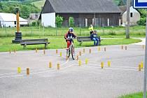 Krajské kolo Dopravní soutěže mladých cyklistů na Dopravním hřišti v Náchodě - Bělovsi.