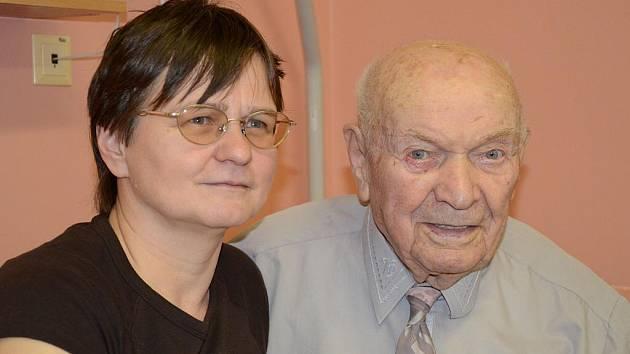 Karel Kašpárek z Náchoda oslavil 21. prosince své 106. narozeniny.