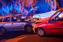 Dopravní nehoda v Bohuslavicích nad Metují.