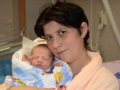 Prvním miminkem letošního roku v Královéhradeckém kraji je Matěj z Jaroměře.