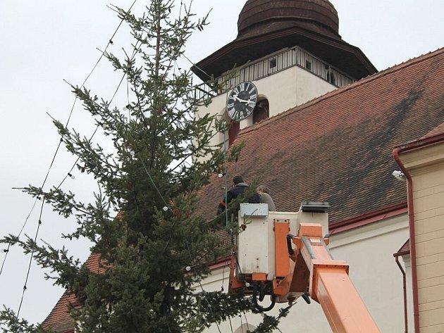Vánoční strom v Novém Městě nad Metují.