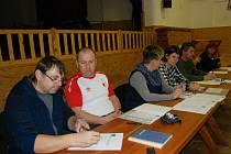 Ustavující schůze zastupitelů v Libuni s volbou nového starosty.