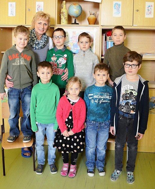 Žáci 1.třídy ze ZŠ Bohuslavice