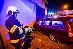 Havárie osobního automobilu ve Vrchovinách.