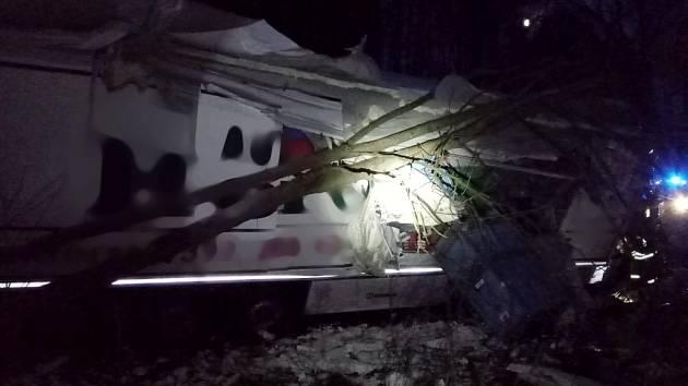 Havárie kamionu v Žabokrkách.