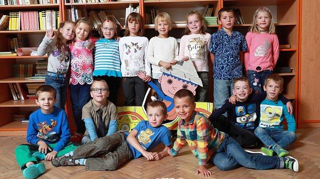 Žáci 1.třídy ze ZŠ Hronov, Zbečník