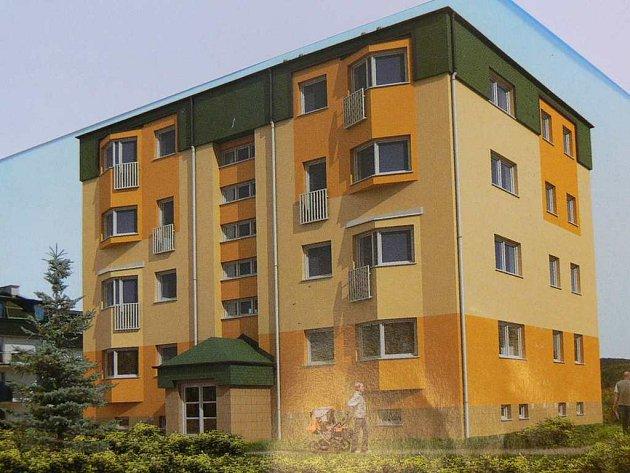 NOVÝ čtyřpodlažní bytový dům v Polici nad Metují by měl vypadat stejně jako na tomto obrázku.