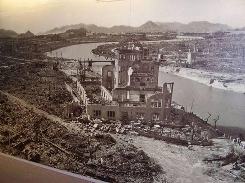 Torzo paláce v Hirošimě.