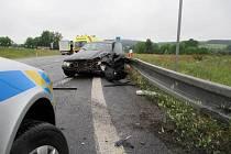Při dopravní nehodě na obchvatu v České Skalici byl 3. července zraněn jeden člověk.