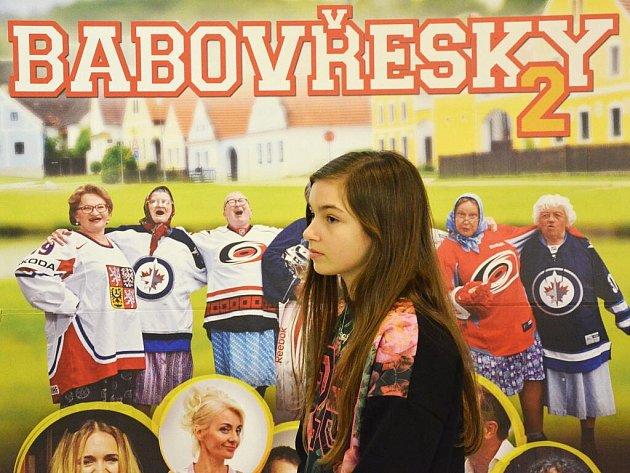 Filmová delegace druhého pokračování komedie Babovřesky v náchodském kině Vesmír.
