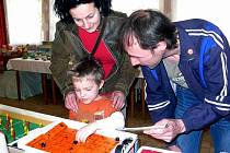 Retro výstava hraček v českoskalické klubovně zahrádkářů.