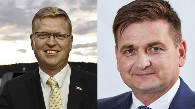 Soupeři pro 2. kolo senátních voleb: Pavel Bělobrádek a Martin Červíček.