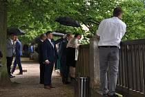 Slavnostního zahájení obnovy zámeckého kopce v Náchodě se ve středu 24. června zúčastnila také první dáma ČR, manželka prezidenta Ivana Zemanová. Foto: Pavel Šnajdr